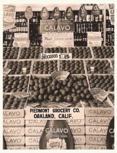 Produce Department 1952, avocado display