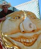 carving giant pumpkin