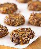 Chocolatey Thumbprint Caramels