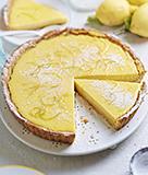 Lemon Tart with Walnut Crust