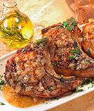 Double Cut Pork Chops with Garlic Butter