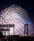 Fireworks over Oakland