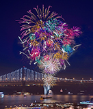 Fireworks over Bay Bridge