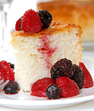 Classic Angel Food Cake with Berries