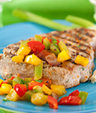 Grilled Tuna with Spicy Garden Salsa