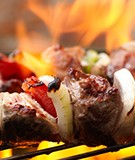 Marinated Steak and Chicken Kebabs