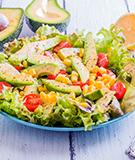 Corn, Avocado, and Tomato Platter Salad