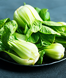 Grilled Baby Bok Choy Stalks with Miso Butter