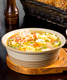 Chicken Noodle Soup with Leeks