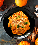 Pumpkin Pasta with Sage Butter