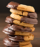 Giant Chocolate-Dipped Peanut Butter Cookies