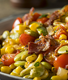 Breakfast Grits with Succotash