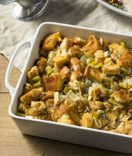 Mushroom, Chestnut, and Sausage Stuffing