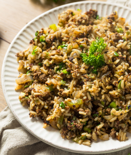 """Dirty"" Rice (Cajun Rice Dressing)"