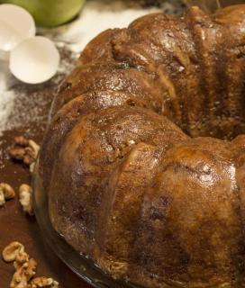 Apple Bourbon Cake